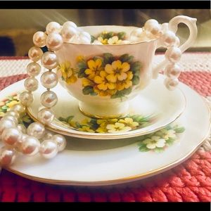 Accessories - Vintage Bone China Teacup & matching Saucers